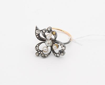 Schuler Auktionen AG - Perlen-Diamant-Ring
