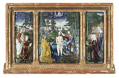 """Schuler Auktionen AG - Triptychon """"Taufe Christi"""""""