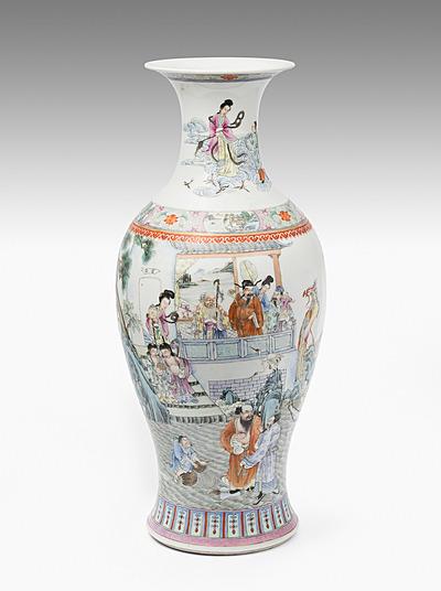 Schuler Auktionen AG - Grosse Famille rose Vase