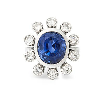Schuler Auktionen AG - Ceylon-Saphir-Brillant-Ring
