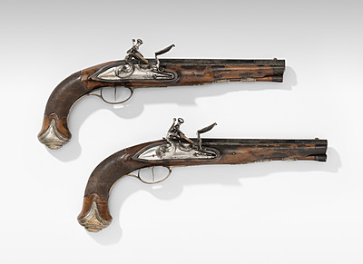 Schuler Auktionen AG - 1 Paar Steinschlosspistolen