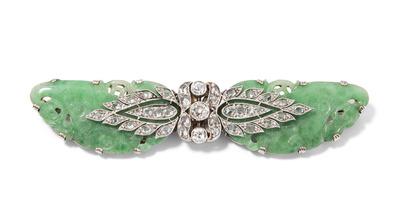 Schuler Auktionen AG - Jadeit-Diamant-Brosche