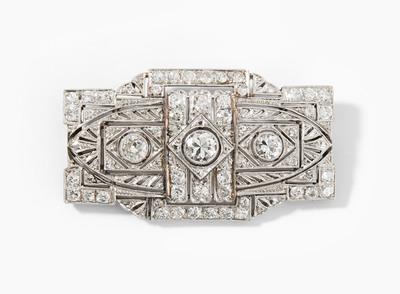 Schuler Auktionen AG - Art Déco Diamant-Brosche