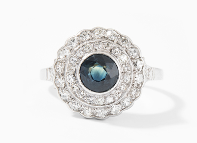 Schuler Auktionen AG - Saphir-Diamant-Ring