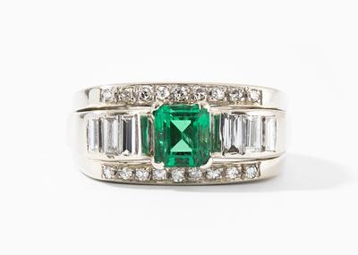 Schuler Auktionen AG - Smaragd-Diamant-Ring