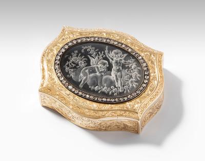 Schuler Auktionen AG - Golddose mit Medaillon