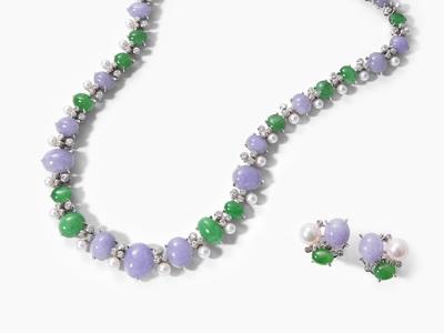 Schuler Auktionen AG - Jadeit-Brillant-Perlen-Set