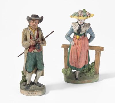 Schuler Auktionen AG - 1 Paar Schweizer Trachtenfiguren