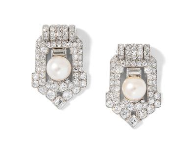 Schuler Auktionen AG - Cartier Diamant-Perlen-Dress-Clips
