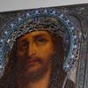 Schuler Auktionen AG - Dornengekrönter Christus mit emaillierter Silberbasma
